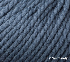 A close up of Rowan Big Wool in 086 Normandy