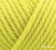 Load image into Gallery viewer, A close up of Rowan Big Wool in 091 Citron