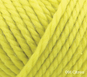 A close up of Rowan Big Wool in 091 Citron