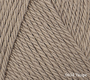 A close up of Rowan Baby CashSoft Merino in 104 Taupe
