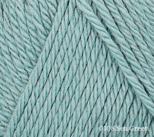 A close up of Rowan Baby CashSoft Merino in 0108 Sea Green