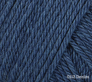 A close up of Rowan Baby CashSoft Merino in 0112 Denim