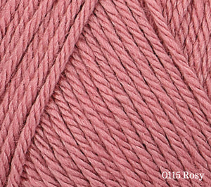 A close up of Rowan Baby CashSoft Merino in 0115 Rosy