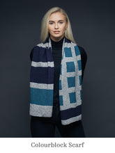Load image into Gallery viewer, A model wearing Colourblock Scarf