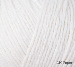 A close up of Rowan Cotton Cashmere in 210 Paper