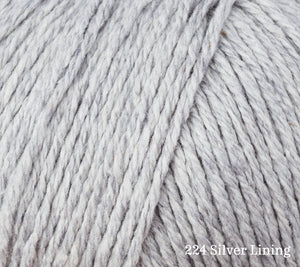 A close up of Rowan Cotton Cashmere in 224 Silver Lining