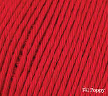 Load image into Gallery viewer, A close up of Rowan Cotton Glace in 741 Poppy