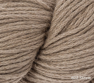 A close up of Rowan Creative Linen in 622 Straw