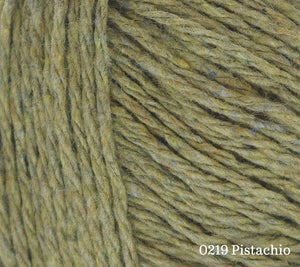 A close up of Rowan Denim Revive in 0219 Pistachio