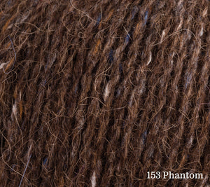 A close up of Rowan Felted Tweed in 153 Phantom