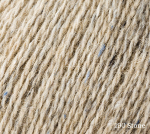 A close up of Rowan Felted Tweed in 190 Stone