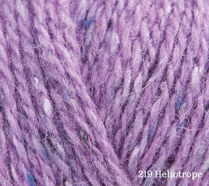A close up of Rowan Felted Tweed in 219 Heliotrope