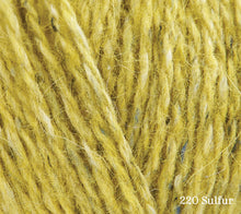 Load image into Gallery viewer, A close up of Rowan Felted Tweed in 220 Sulfur