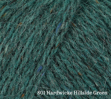 Load image into Gallery viewer, A close up of Rowan Felted Tweed in 801 Hardwicke Hillside Green