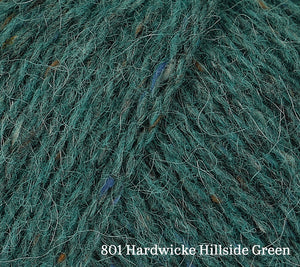 A close up of Rowan Felted Tweed in 801 Hardwicke Hillside Green