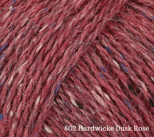 A close up of Rowan Felted Tweed in 802 Hardwicke Dusk Rose