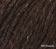 Load image into Gallery viewer, A close up of Rowan Felted Tweed Aran in 783 Treacle