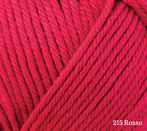 A close up of Rowan Handknit Cotton in 215 Rosso