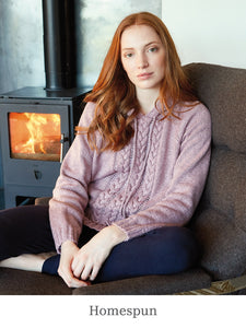 A model wearing Homespun