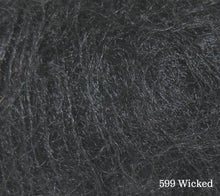 Load image into Gallery viewer, A close up of Rowan Kid Silk Haze in 599 Wicked