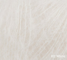 Load image into Gallery viewer, A close up of Rowan Kid Silk Haze in 612 White