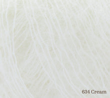 Load image into Gallery viewer, A close up of Rowan Kid Silk Haze in 634 Cream