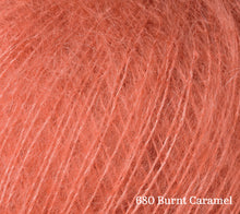 Load image into Gallery viewer, A close up of Rowan Kid Silk Haze in 680 Burnt Caramel