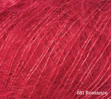 Load image into Gallery viewer, A close up of Rowan Kid Silk Haze in 681 Romance