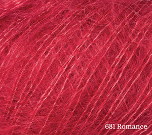 A close up of Rowan Kid Silk Haze in 681 Romance