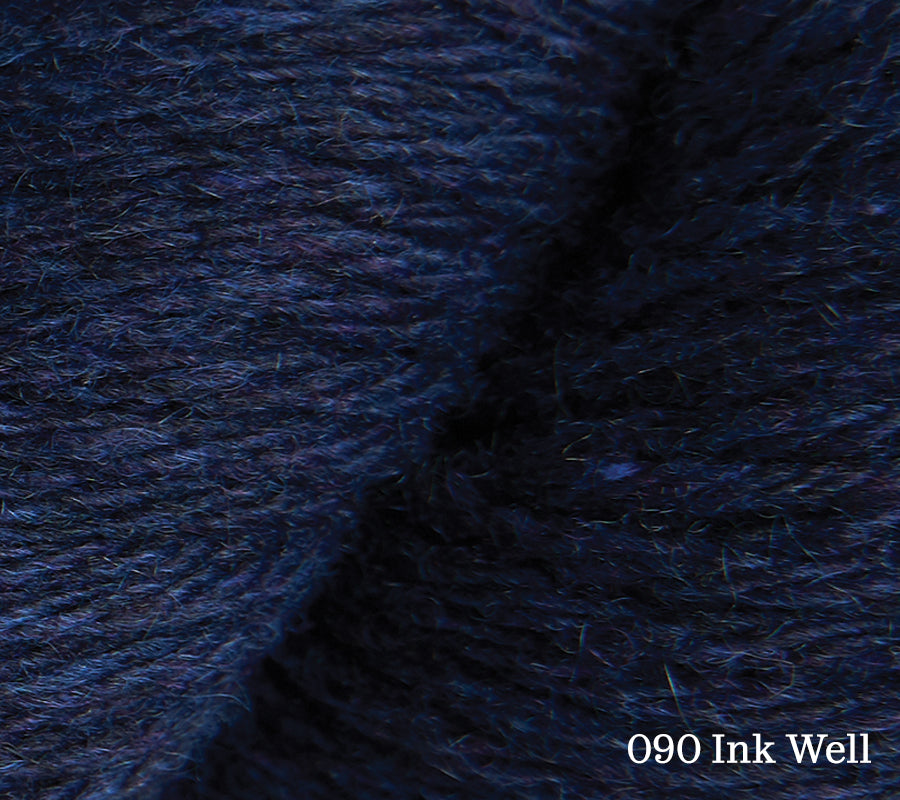A close up of Rowan Pure Cashmere in 090 Ink Well