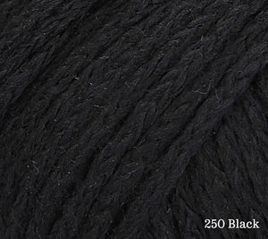 A close up of Rowan Soft Yak DK in 250 Black
