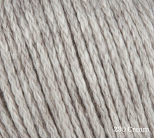 Load image into Gallery viewer, A close up of Rowan Soft Yak DK in 230 Cream