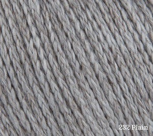 A close up of Rowan Soft Yak DK in 232 Plain