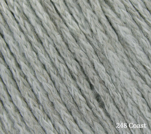 A close up of Rowan Soft Yak DK in 248 Coast
