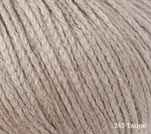 Load image into Gallery viewer, A close up of Rowan Soft Yak DK in 245 Taupe