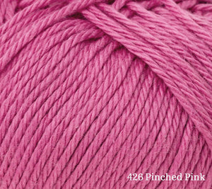 A close up of Rowan Summerlite 4ply in 426 Pinched Pink