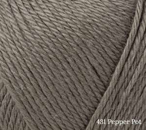 A close up of Rowan Summerlite 4ply in 431 Pepper Pot
