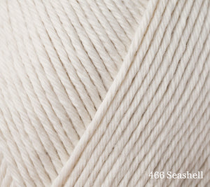 A close up of Rowan Summerlite DK in 466 Seashell