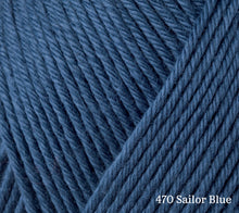 Load image into Gallery viewer, A close up of Rowan Summerlite DK in 470 Sailor Blue