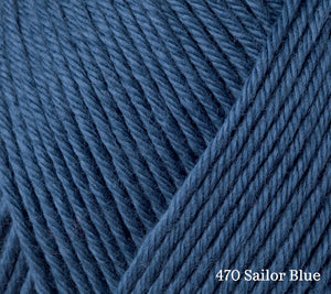 A close up of Rowan Summerlite DK in 470 Sailor Blue