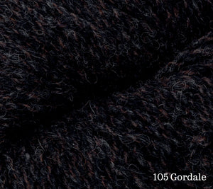 A close up of Rowan Valley Tweed in 105 Gordale