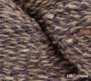 A close up of Rowan Valley Tweed in 116 Calluna