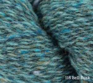 A close up of Rowan Valley Tweed in 118 Bell Busk