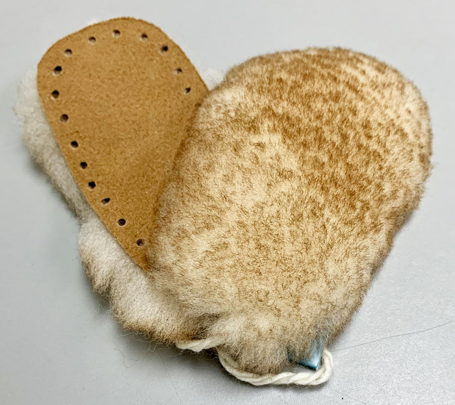 A pair of Sheepskin Soles in baby size