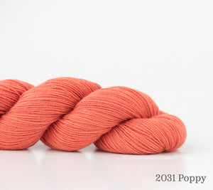 A skein of Shibui Cima in 2031 Poppy
