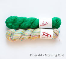 Load image into Gallery viewer, Stained Glass kit: Emerald + Morning Mist