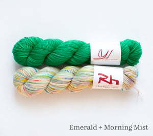 Stained Glass kit: Emerald + Morning Mist
