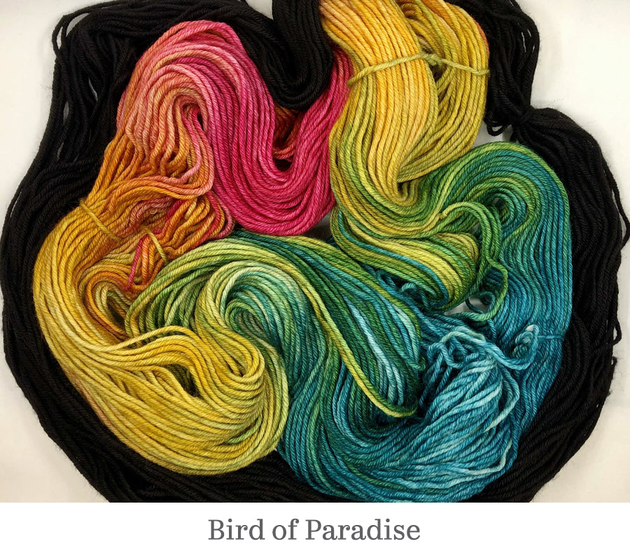Stephanie's Stacked Colour Cowl kit in Bird of Paradise