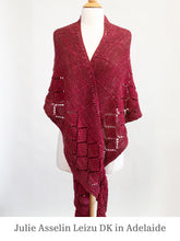 Load image into Gallery viewer, Stargazer Shawl in Julie Asselin Leizu DK Adelaide