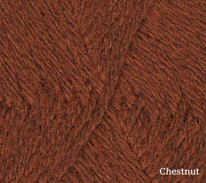A close up of Teenie Weenie Wool in Chestnut